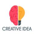 creative idea mind logo flat style vector image vector image