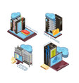 data cloud service isometric concept vector image vector image