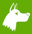 doberman dog icon green vector image vector image