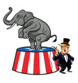 donald trump and republican elephant cartoon vector image vector image
