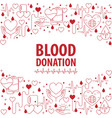 donation blood day banner vector image