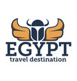 egypt travel destination traveling banner vector image