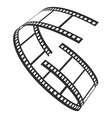 film reel icon television and production strip vector image vector image
