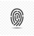 finger print icon vector image vector image
