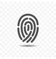 finger print icon vector image