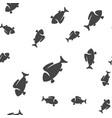 fish seamless pattern vector image vector image