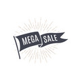 flag mega sale old school flag banner vector image