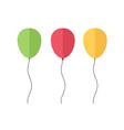 Flat Balloons vector image vector image