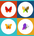 flat moth set of monarch butterfly summer insect vector image vector image
