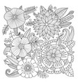 floral background sketch for your design vector image