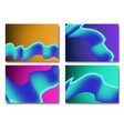 fluid colors backgrounds set fluid shapes with vector image