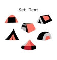 forms of tourist tents vector image