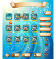 Game template vector image vector image