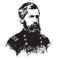 general oliver o howard vintage vector image vector image