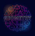 geometry round colorful vector image vector image