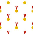 gold medal pattern seamless vector image vector image