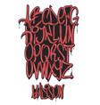 graffiti marker alphabet set vector image vector image