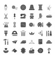 handmade solid web icons vector image