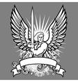 heraldic angel vector image vector image