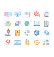 icons as manual faq info center guide reading vector image vector image