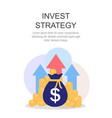 invest strategy concept flat background vector image vector image
