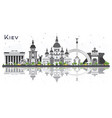 kiev ukraine city skyline with gray buildings and vector image