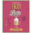 latte2 vector image vector image