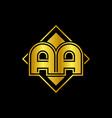 letter aa golden mirror