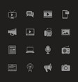 media - flat icons vector image