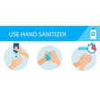 medical infographic - how to use hand sanitizer vector image