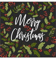 merry christmas happy new year mistletoe seamless vector image