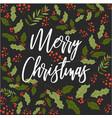 merry christmas happy new year mistletoe seamless vector image vector image