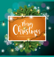 merry christmas on dark green vector image vector image