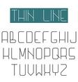 modern design font alphabet thin line letter vector image