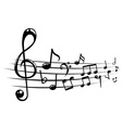 Musical notes staff background with lines vector image vector image