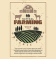 organic farm agriculture retro poster vector image
