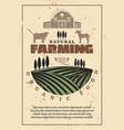 organic farm agriculture retro poster vector image