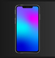 realistic phone screen template no notch front vector image