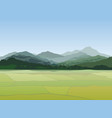 rural landscape mountains countryside view with vector image vector image
