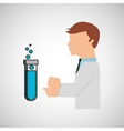 scientist worker research test tube laboratory vector image vector image