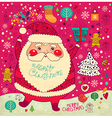 Scrapbook Arty Santa Claus vector image vector image