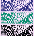 set black green blue pattern vector image