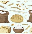 set of food products from wheat and flour vector image vector image