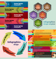 set of infographic template vector image