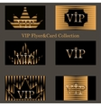 set of VIP cards with golden foil vector image