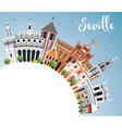 Seville Skyline with Color Buildings Blue Sky vector image vector image
