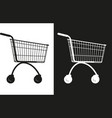 simple market cart vector image