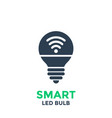 smart led light bulb icon isolated on white vector image vector image