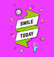 smile today vintage ribbon banner vector image vector image