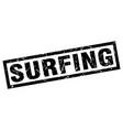 square grunge black surfing stamp vector image vector image